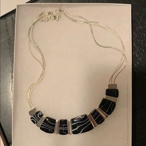 Black and silver necklace! NWOT